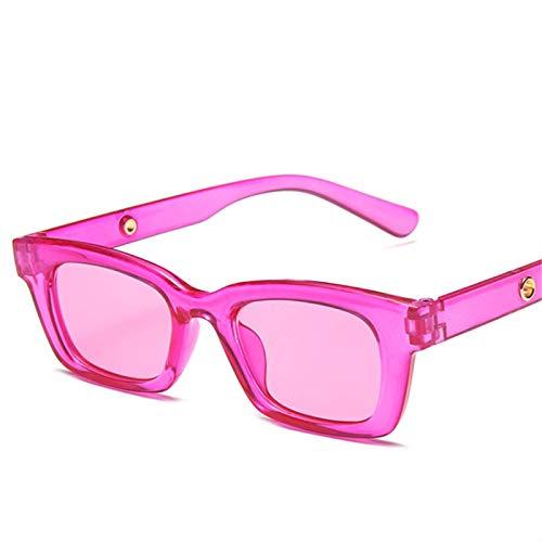 ShFhhwrl Clásico Gafas De Sol Gafas De Sol A La Moda para Mujer, Rectangulares, Vintage, Transparentes, Gafas De Sol, Verde, Azul