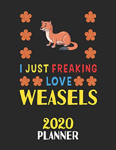 I Just Freaking Love Weasels 2020 Planner: Weekly Monthly 2020 Planner For People Who Loves Weasels 8.5x11 67 Pages