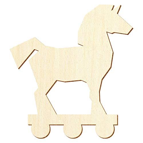 Trojanisches Holz Pferd - Deko Basteln 3-50cm, Pack mit:25 Stück, Größe:50cm
