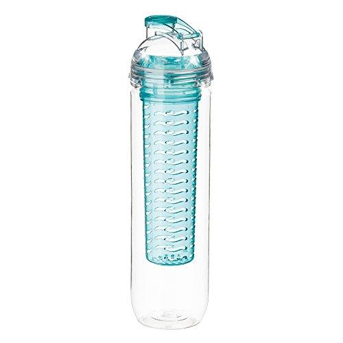 MELIANDA MA-7200 Trinkflasche mit Fruit Infuser 800 ml Tritan für Sport und Freizeit türkis
