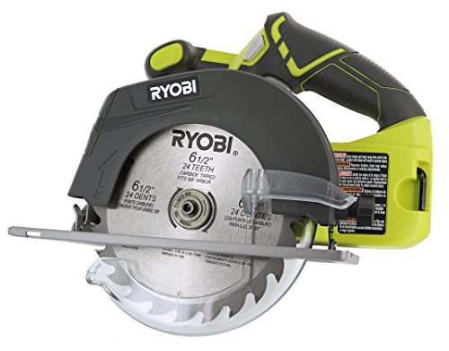 Ryobi P507 One+ 18V Lithium Ion Cordless 6 1/2 Inch 4,700 RPM Circular Saw w/ Blade...