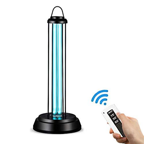 Lámpara desinfectante,lámpara de esterilización, luz UV con mando a distancia, ambientador de aire, tasa antibacteriana 99%, eliminación de olores para dormitorio/cocina/zapatos/aseos.Sin ozono,60W