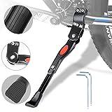 WisFox Bike Béquille réglable en alliage d'aluminium de vélo Béquille latérale pour vélo avec loquet à ressorts, invisible...
