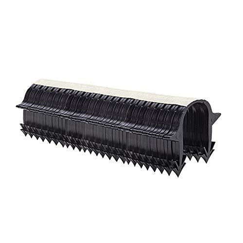 Tackernadeln, 1000 Stück, magaziniert schwarz für Rohre bis 20 mm