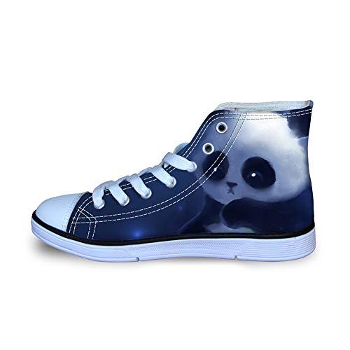 Coloranimal Chaussures montantes en toile Denim 3D Motif chat chien - - Panda 1., 39 EU
