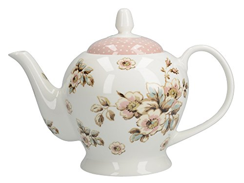 Katie Alice 'Cottage Flower' grande teiera in ceramica di Creative Tops, 1300 ml (46 fl oz)