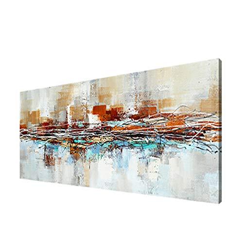 Modernos Del Arte Cuadro En Lienzo - abstracta Pintura Carteles Impresiones De La Lona Arte De La Pared Decorativa Cuadros Pintura(Sin Marco)(50x150cm)