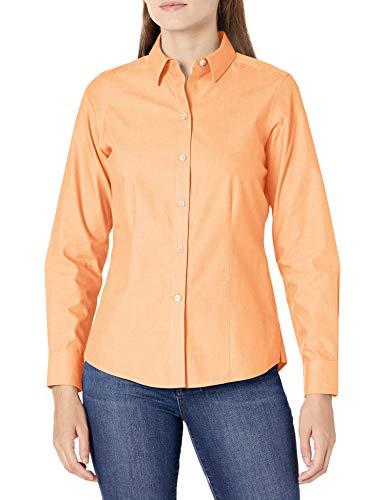 Foxcroft Damen Dianna Non-Iron Pinpoint Shirt Button Down Hemd, Goldener Stab, 34