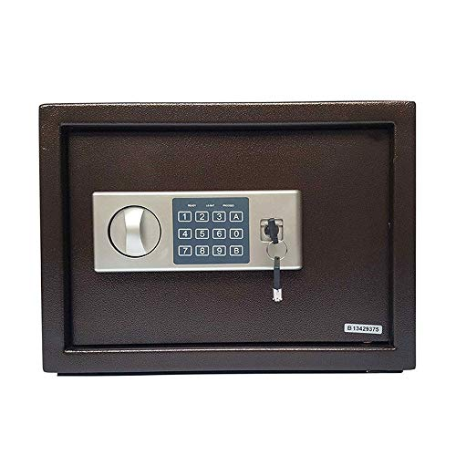 Brandvrije kluis Digital Safe Electronic Steel Fireproof Lock Box met toetsenbord Ter beveiliging geld, sieraden Veilig thuis (Color : As picture, Size : 35x20x25cm)