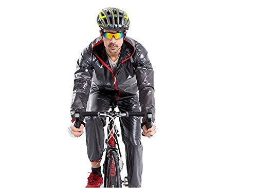 Comcrib Regenjacke Radfahren Wasserdicht Regenmantel Windstopper Atmungsaktiv Verschleißfest Zip...