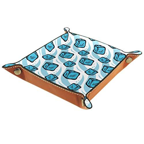 Organizador de escritorio pequeño, diseño de cubitos de hielo de Frozen azul para joyas, caja de almacenamiento para el hogar,...