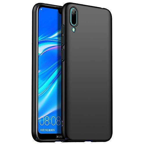 RFLY Funda Huawei Y6 2019, Funda Protectora Resistente A Prueba De Golpes, Mate, Delgada, Dura y Rígida para PC Huawei Y6 2019, Negro