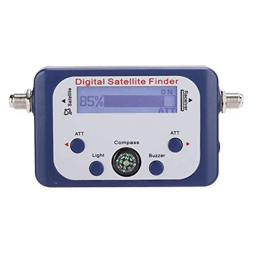 Buscador de satélite digital, medidor de intensidad de señal de satélite de antena portátil, buscador de satélite de 950-2150 MHz con pantalla LCD, zumbador y brújula