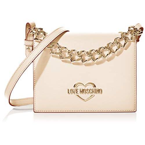 Love Moschino Jc4043pp1a, Borsa a Mano Donna, Beige (Naturale), 8x16x20 cm (W x H x L)