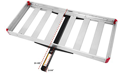 MaxxHaul Aluminum 49.5 Inch x 22.5 Inch 70422 48' x 21' Hitch Mount Compact Cargo Carrier-500-lb Load Capacity