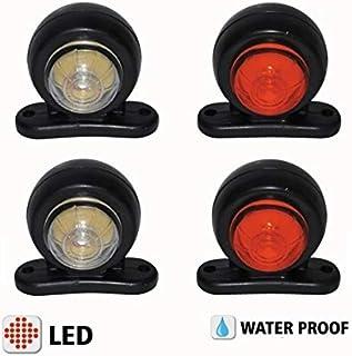 remolque rojo y blanco furgoneta izquierda y derecha caravana cami/ón 4 luces de g/álibo laterales LED casis