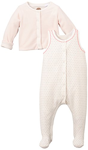 Petit Bateau Baby - Mädchen Bekleidungsset Ensemb.2P Dbien+Ves, Gr. 68 (Herstellergröße: 6M/67Cm), Mehrfarbig (Fleur/Multico 76)