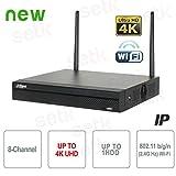 Dahua - NVR 8 Canali IP 8MP 4K 80Mbps WiFi H.265 P2P - Dahua - NVR2108HS-W-4KS2