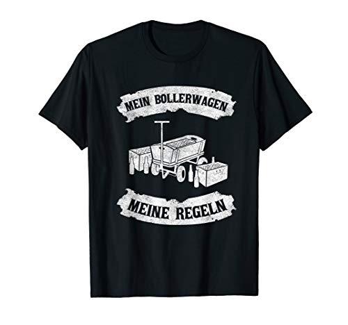 Herren Vatertag Geschenk für Grünkohlfahrt Herrentag I Bollerwagen T-Shirt