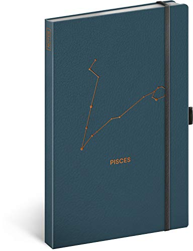 Cuaderno de notas con banda de goma a rayas para mujeres, niñas y hombres, diario diario para la escuela y el trabajo (peces)