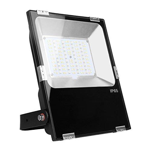 LIGHTEU®, Milight WLAN LED Lampe original 50W Color RGB+CCT,dimmbar,Farbwechsel Gartenleuchte,Außenstrahler Fluter Flutlicht,IP65,ohne Fernbedienung, futt02