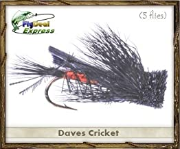 Fly Fishing Flies - DAVES CRICKET - Dry Fly (3-pack)