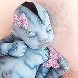 XYZLEO 55cm Luminosa Muñeca de Silicona con Ojos Cerrados, Bebé Renacido Muñeca Realista Muñeca Bebé, Las Extremidades Son Suaves y Flexibles Realista Bebé Reborn, Regalo