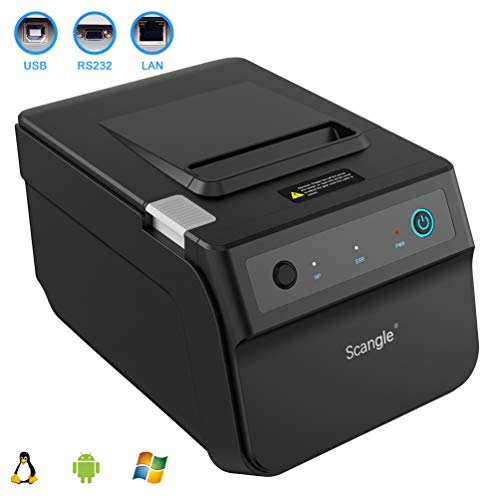 Scangle SGT-88IV Desktop USB Direct Thermal POS Receipt Printer - with USB/Serial/Ethernet Ports - Work on Windows XP//7/8/8.1/10/Linux/Android