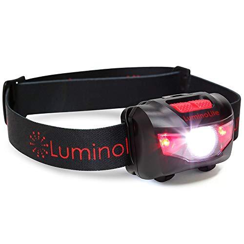 Super hell Cree LED Kopflampe 160 Lumen stirnlampe,5 Beleuchtungsmodi,Weiße-rote LED stirnlampen Leicht,Verstellbares Kopfband,IPX6 Wasserresistent,Ideal geeignet zum Joggen,Laufen,Batterien inklusive
