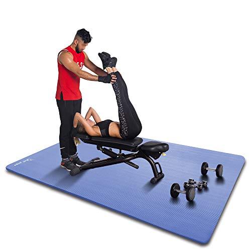 YUREN Colchoneta de Yoga XL 20mm Extra Gruesa 200×135cm Grande NBR Antideslizante Esterilla para Ejercicio Pilates Fitness Workout y Gimnasia