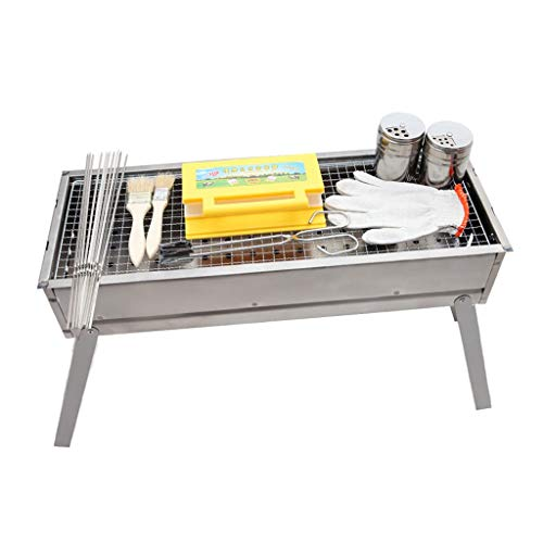 Jun Feng Shop Outdoor Barbecue Grill, Charcoal Barbecue Grill, Household Portable Carbon Grill Barbecue Shelf (Suitable for 5~10 People) BBQ Grill (Color : A)