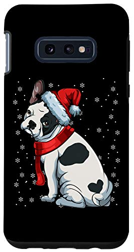 Galaxy S10e French Bulldog Frenchie Christmas Dog Dad Mom Santa Hat Gift Case