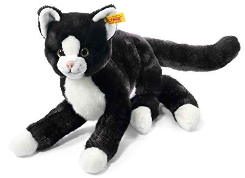 Steiff 099366 - Mimmi Schlenker Katze, 30 cm, schwarz/weiß