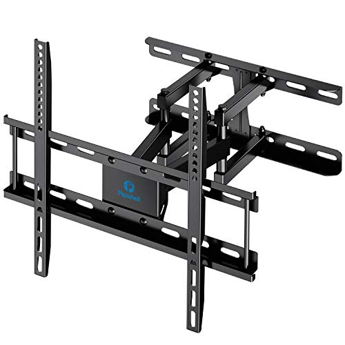 TV Wall Mount Dual Articulating Arms, Full Motion Swivel Extension Tilt TV Mount, Fits for Most 26'-55' Flat Curved TVs with Max VESA 400x400mm, Supports up to 77lbs by Pipishell