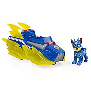 PAW PATROL 6056840, Mighty Pups Charged Up Chase Vehículo Luces y Sonidos, Multicolor