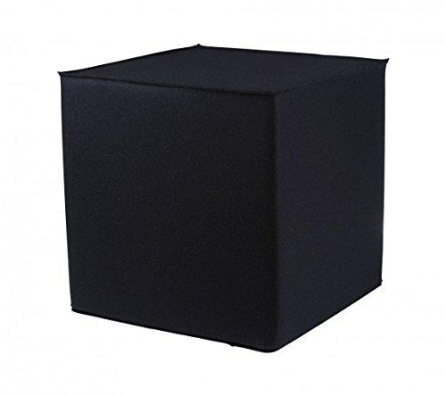 myFilz Pouf Cube en Feutrine de 3 mm 40 x 40 x 40 cm Carré Noir