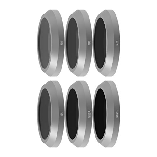 Freewell Budget Kit E-Series - Camera Lens Filters Set 6Pack ND4, ND8, ND16, CPL, ND32/PL, ND64/PL Compatible with Parrot Anafi Drone