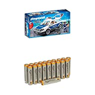 Flashing lights Siren sounds Pack of 20 AAA Alkaline 1.5 Volt Batteries Improved anti-corrosion components and new zinc composition give the batteries a 10-year, anti-leak shelf life