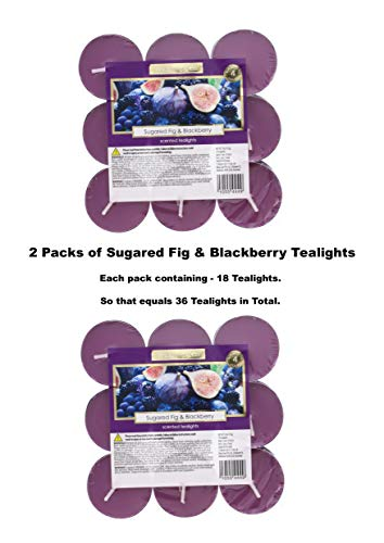 Wickford & Co CANDLE Sugared Fig & Blackberry 36 tea lights tealights - Fulfilled by AMAZON ONLY