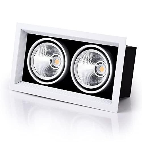 GHC LED Lamps LED A Soffitto A Soffitto Luce Girevole A LED COB Da Incasso Da Incasso A Incasso Quadrato 7W 12W Singolo/Doppia Testa 220V 230 V Per Illuminazione Indoor
