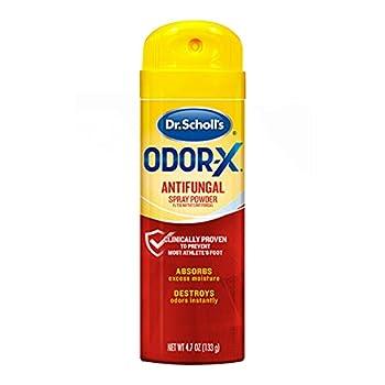 Dr Scholl s Odor-X Antifungal Spray Powder 4.7 Ounce