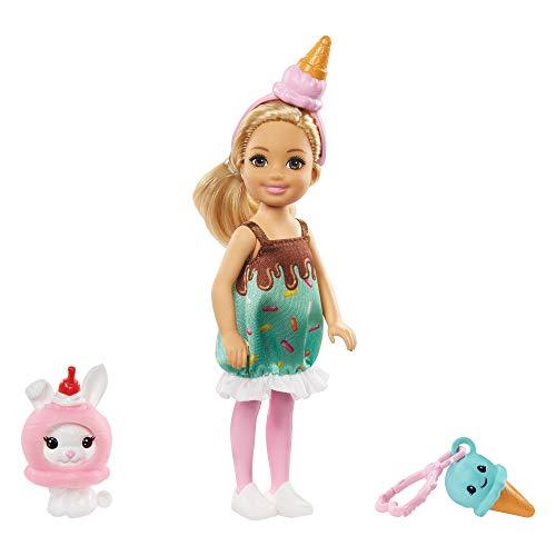 Barbie Chelsea Disfraz de Helado, Muñeca con Accesorios (Mattel GHV72) , color/modelo surtido