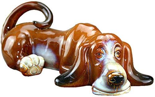 Estatua decorativa de acamptar con escultura de perro basset hound hecha a...