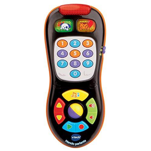 VTech - Mando parlante, Juguete bebé +6 meses, mando a distancia electrónico, enseña colores, números, formas, contrarios y vocabulario, juego imaginativo, multicolor (80-150322)