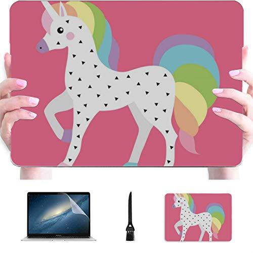 Carcasa rígida de plástico para portátil Mac Air de 13 pulgadas Pro de 13 pulgadas y 16 pulgadas, con diseño de unicornio