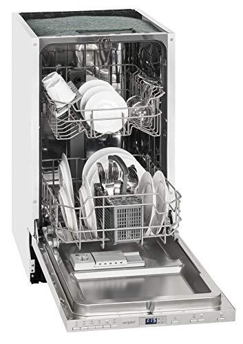 Exquisit Geschirrspüler EGSP 2109.1 E | Vollintegriert, Einbaugerät | 9 Maßgedecke | Weiß