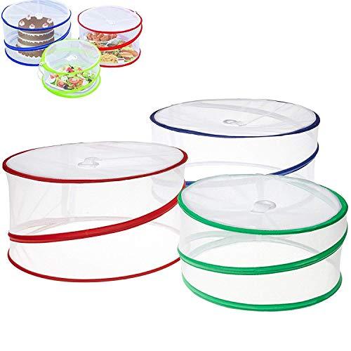 SZJJI 3 x Pliable Pop up Nourriture couvertures Pique-niquer en Plein air protecteurs de Cuisine moustiquaire