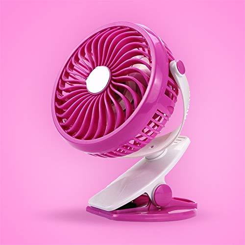 USB Mini Fan 360 Grados Ajustable Portátil Rosa