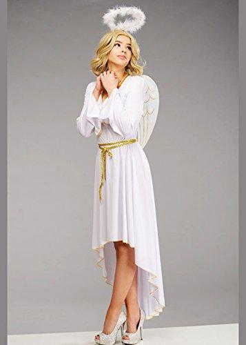 Disfraz de ángel de Navidad Blanca para Mujer Adulta Medium (UK 12-14)