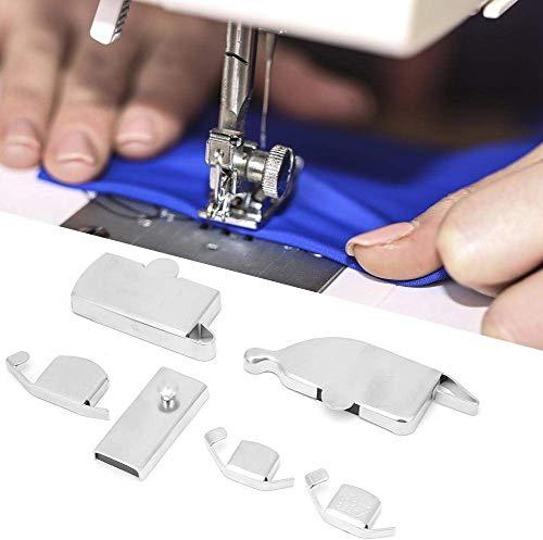 HEEPDD Guía de Costura magnética, 6 Piezas de Fuerza Fuerte doméstica Guía de Costura magnética Pies de Prensa para Accesorio de máquina de Coser